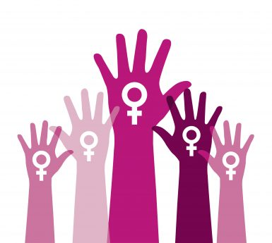 Feminist Hands Raised for Reproductive Justice