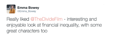@emma_bowey post about The Divide documentary film