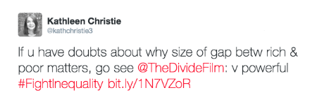 @kathcristie3 post about The Divide documentary film
