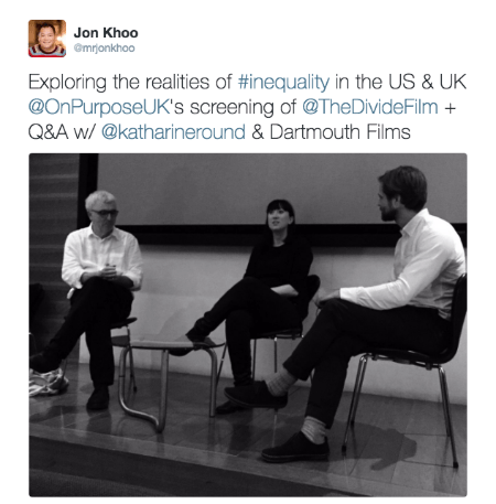 @mrjonkhoo post about The Divide documentary film screening